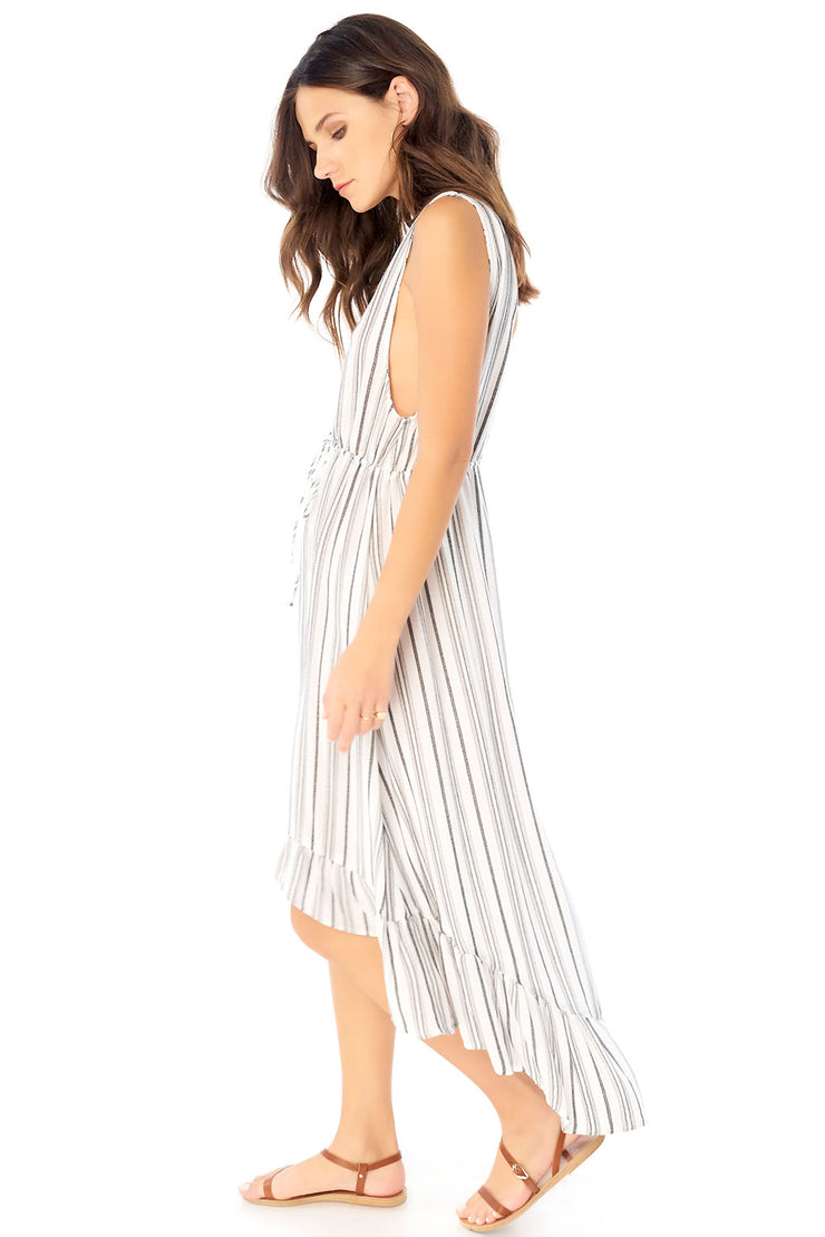 Lovestoned Maxi Dress - Textured Stripe,saltwater luxe,Saltwater Luxe,WOMENS