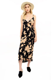 Halsey Midi Dress - Floral,saltwater luxe,Saltwater Luxe,WOMENS