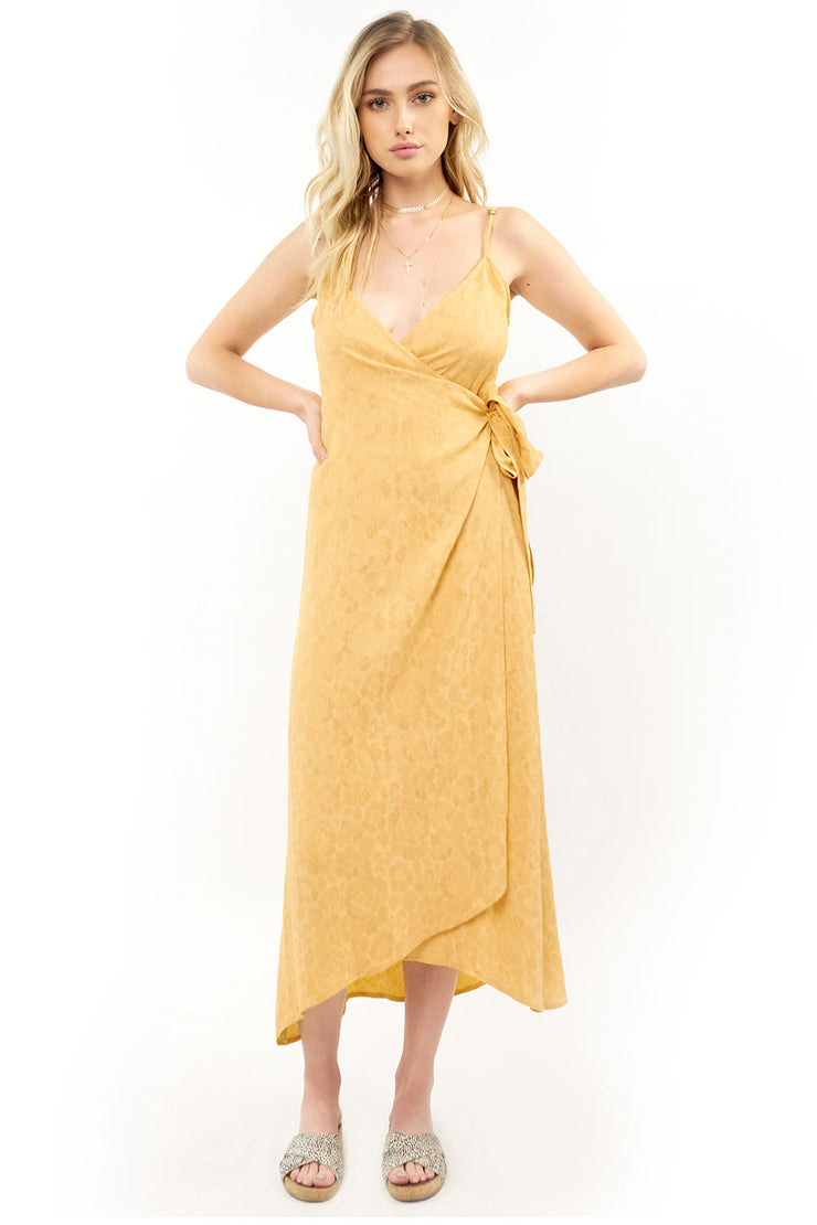 Halsey Midi Dress - Jacquard,saltwater luxe,Saltwater Luxe,WOMENS