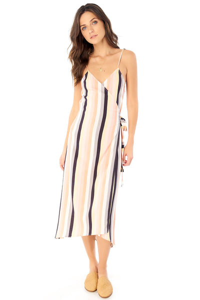 Halsey Midi Dress - Summer Stripe,saltwater luxe,Saltwater Luxe,WOMENS