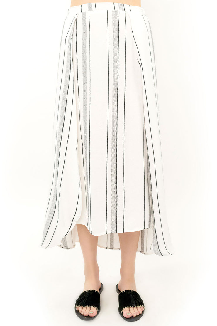 Haven Midi Skirt - Stripe,saltwater luxe,Saltwater Luxe,WOMENS