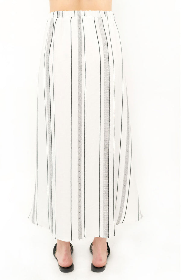 Haven Midi Skirt - Stripe,saltwater luxe,saltwater-luxe,WOMENS
