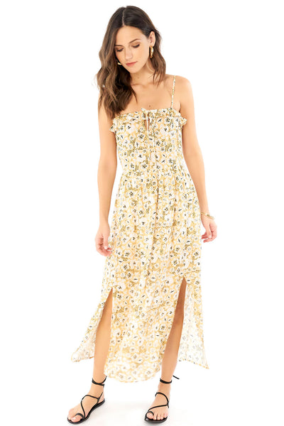 Paisley Maxi Dress - Cheetah Floral,saltwater luxe,Saltwater Luxe,WOMENS