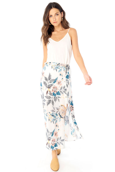 Lena Midi Skirt - Full Bloom,saltwater luxe,Saltwater Luxe,WOMENS