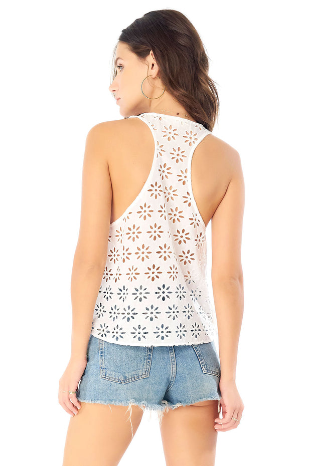 Madeline Tank - Eyelet,saltwater luxe,Saltwater Luxe,WOMENS