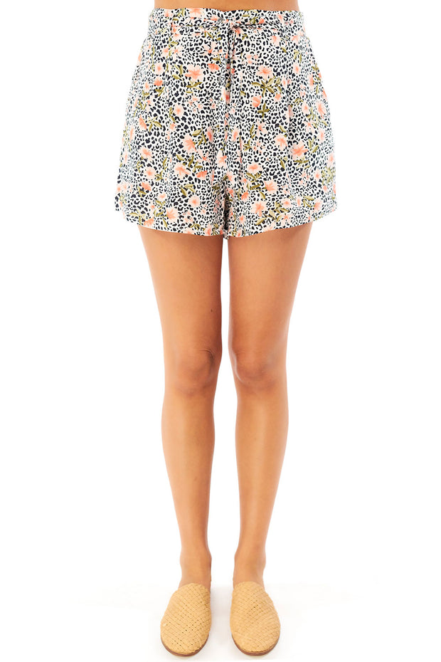 Quinn Short - Leopard Ditsy,saltwater luxe,saltwater-luxe,WOMENS