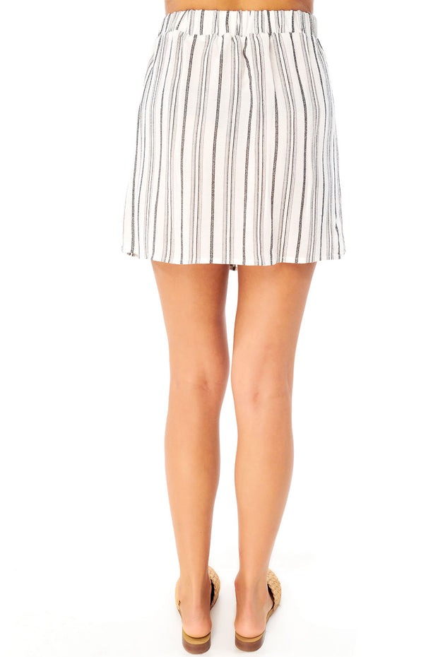Cannes Mini Skirt - Stripe,saltwater luxe,Saltwater Luxe,WOMENS