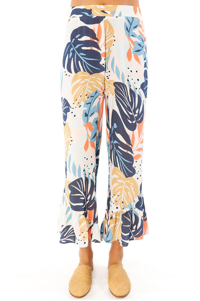Zoey Crop Pant - Palm,saltwater luxe,Saltwater Luxe,WOMENS