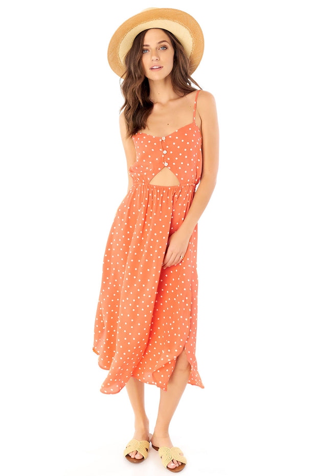 Lennon Midi Dress - Dot,saltwater luxe,saltwater-luxe,WOMENS