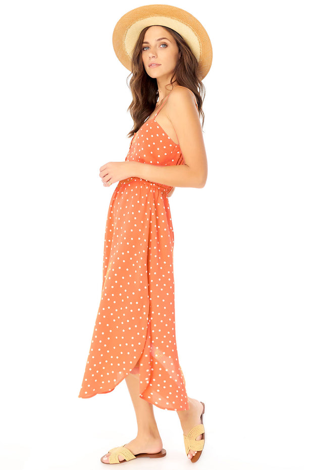 Lennon Midi Dress - Dot,saltwater luxe,Saltwater Luxe,WOMENS