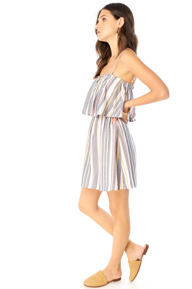 Jojo Mini Dress - Cool Stripe,saltwater luxe,Saltwater Luxe,WOMENS