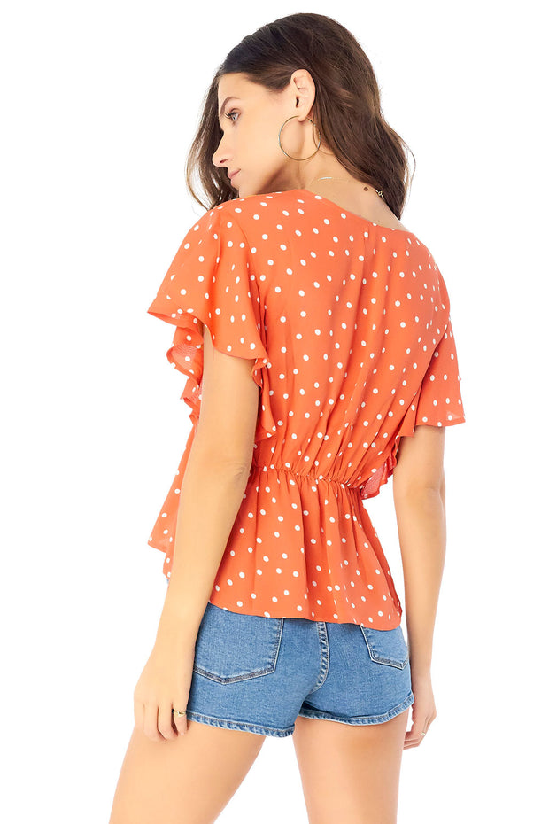 Golden Hour Blouse - Dot,saltwater luxe,Saltwater Luxe,WOMENS