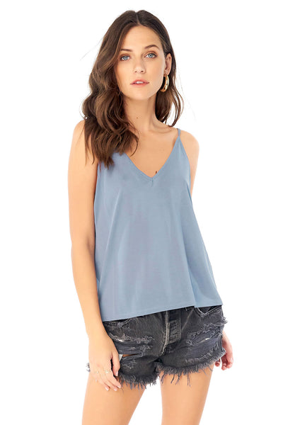 V-Neck Cami - Marine,saltwater luxe,Saltwater Luxe,WOMENS