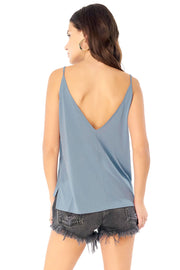 Basic V Neck Low Back Tank,saltwater luxe,saltwater-luxe,WOMENS