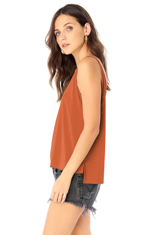 V-Neck Cami - Sienna,saltwater luxe,Saltwater Luxe,WOMENS