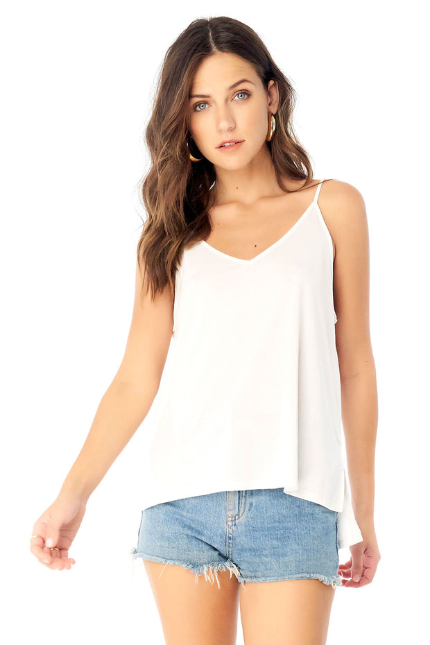 Basic V Neck Low Back Tank,saltwater luxe,Saltwater Luxe,WOMENS