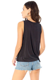 Seamed Muscle Tank - Black,saltwater luxe,Saltwater Luxe,WOMENS