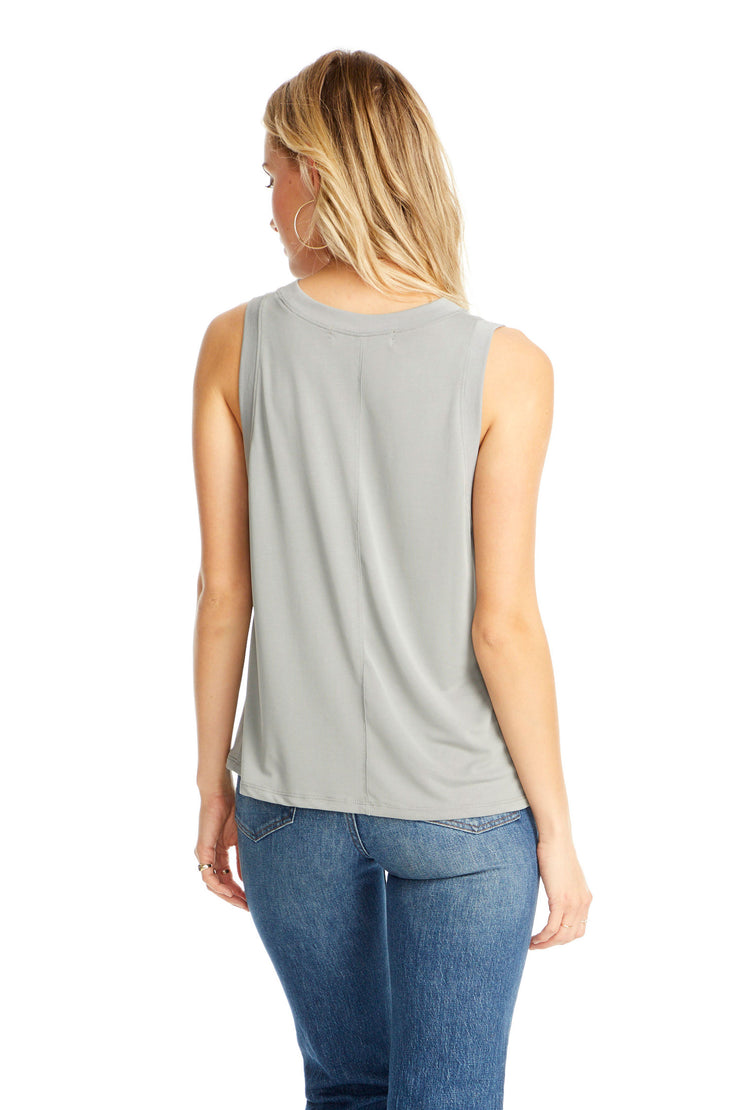 Seamed Muscle Tank - Heather Grey,saltwater luxe,Saltwater Luxe,WOMENS