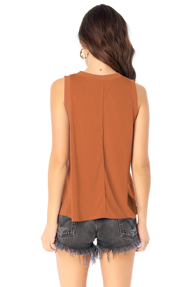 Seamed Muscle Tank - Sienna,saltwater luxe,Saltwater Luxe,WOMENS