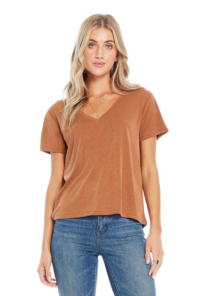 Basic V-Neck Short Sleeve Tee,saltwater luxe,Saltwater Luxe,WOMENS