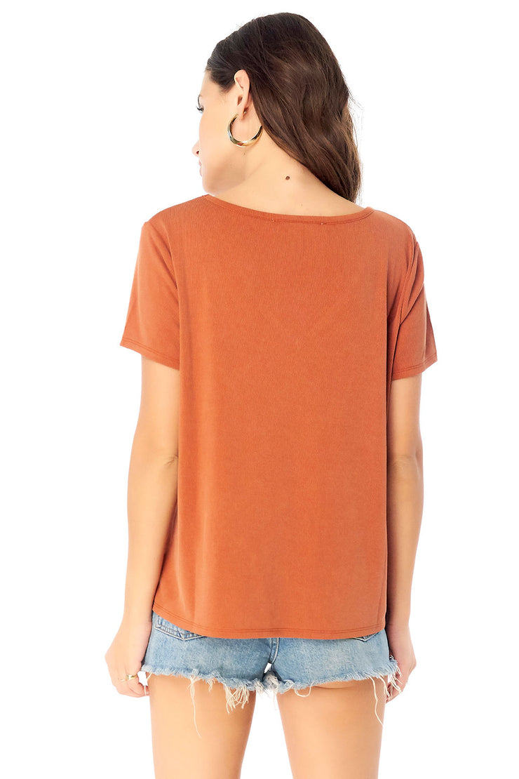 Basic V- Neck Short Sleeve Tee,saltwater luxe,Saltwater Luxe,WOMENS