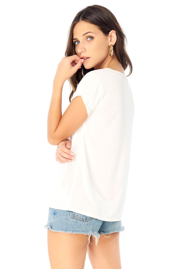 Basic Crew Neck Tee w/ Rolled Sleeve,saltwater luxe,Saltwater Luxe,WOMENS