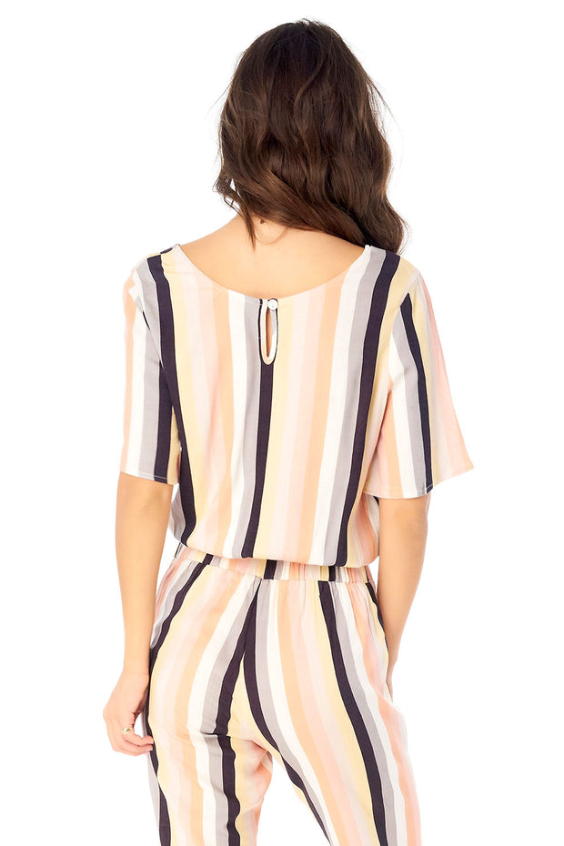 Parker Blouse - Summer Stripe,saltwater luxe,saltwater-luxe,WOMENS