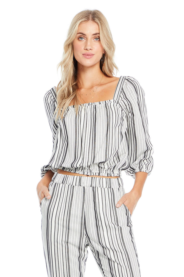 Monarch Top - Fall Stripe,saltwater luxe,Saltwater Luxe,WOMENS