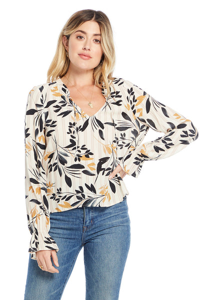 Tasha Blouse - Fall Petals,saltwater luxe,Saltwater Luxe,WOMENS
