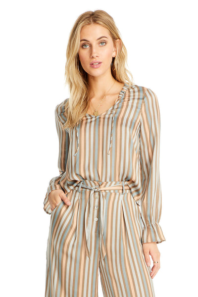 Tasha Blouse - Perfect Stripe,saltwater luxe,Saltwater Luxe,WOMENS