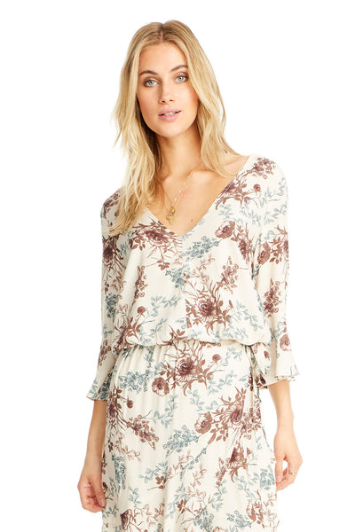 Lyla Blouse - Morning Bloom,saltwater luxe,Saltwater Luxe,WOMENS