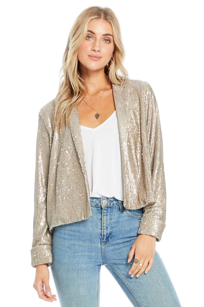 Avalon Jacket - Gold Sequin