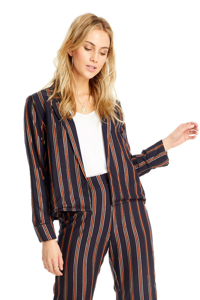 Avalon Jacket - Metallic Stripe,saltwater luxe,Saltwater Luxe,WOMENS