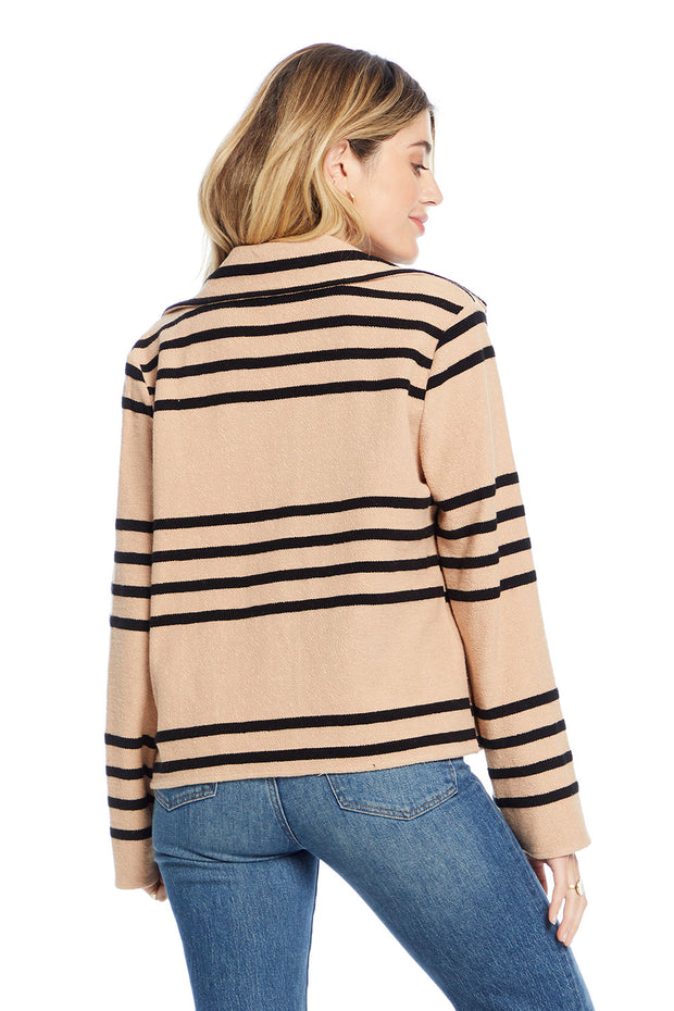 Shadow Jacket - Open Stripe,saltwater luxe,Saltwater Luxe,WOMENS
