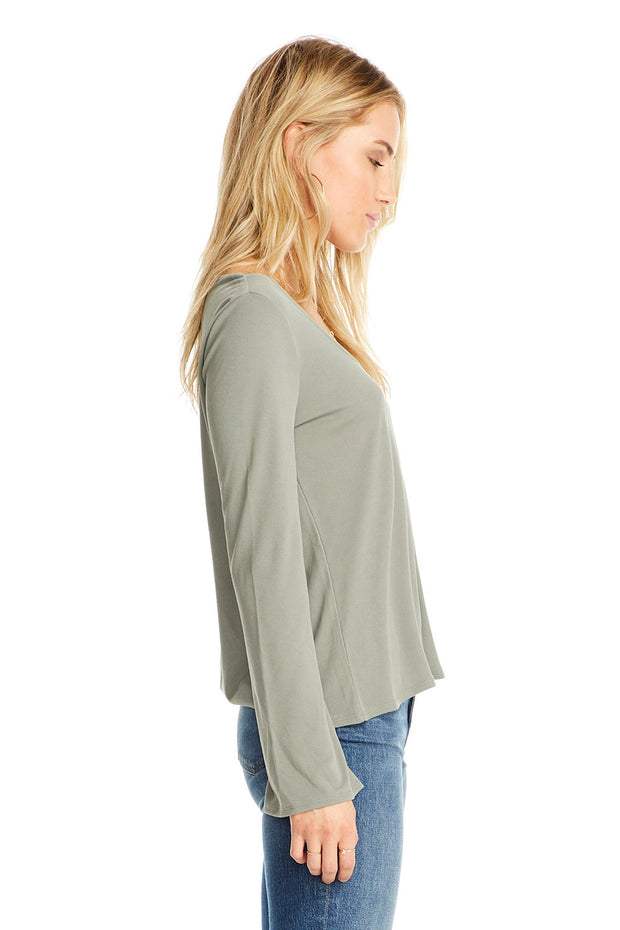 Scoop Neck Long Sleeve Tee,saltwater luxe,Saltwater Luxe,WOMENS