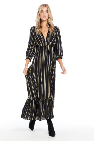 Wren Maxi Dress - Night Stripe