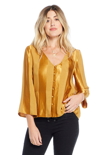 Meadow Blouse - Amber Wide Stripe