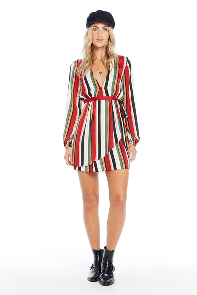 Frankie Mini Dress - Holiday Stripe,saltwater luxe,Saltwater Luxe,WOMENS