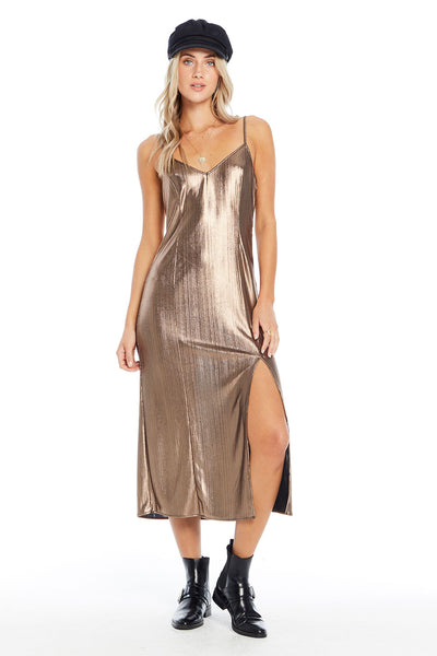Rae Midi Dress - Metallic Daze,saltwater luxe,Saltwater Luxe,WOMENS