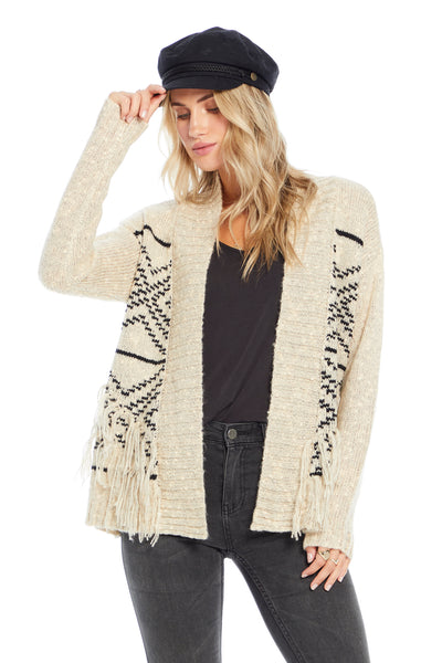Half Moon Sweater - Aztec Stripe