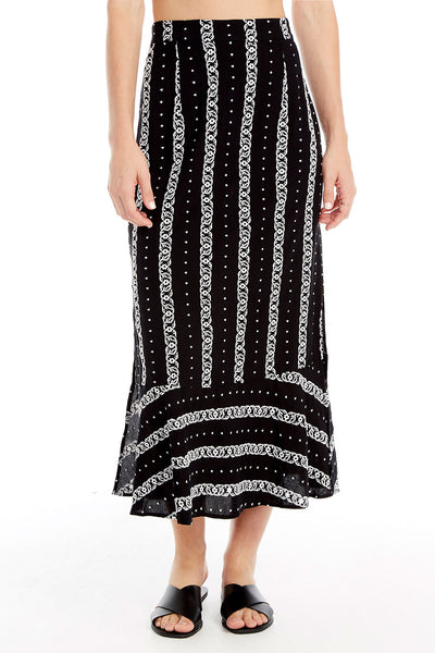 Lee Midi Skirt - Embroidery Stripe