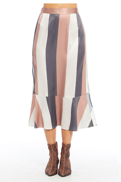 Lee Midi Skirt - Wonder Stripe