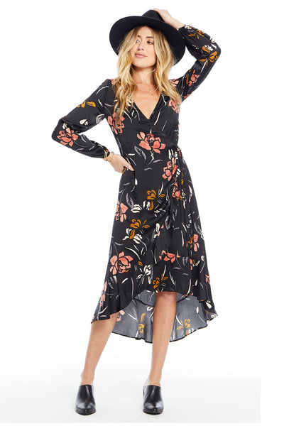 Tia Wrap Dress - Rose Garden