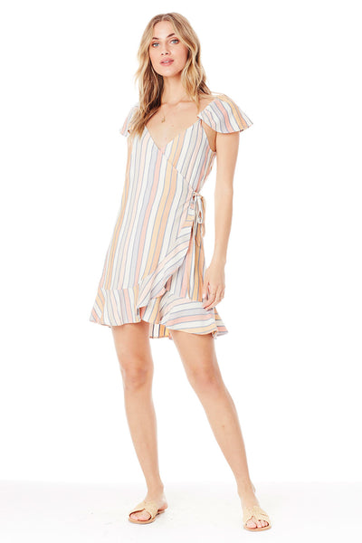 Zoya Mini Dress - Morning Stripe