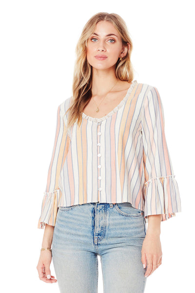 Kacey Blouse - Morning Stripe