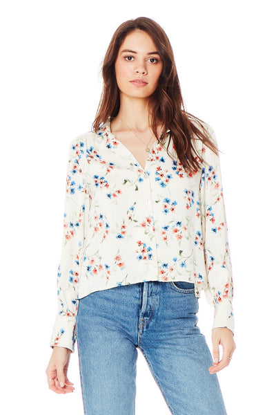 Donna Blouse - Spring Blossom in Vanilla