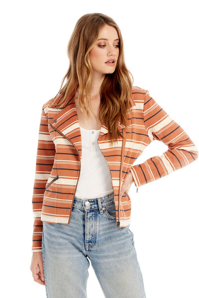 Bondi Jacket - Clay Multi Stripe