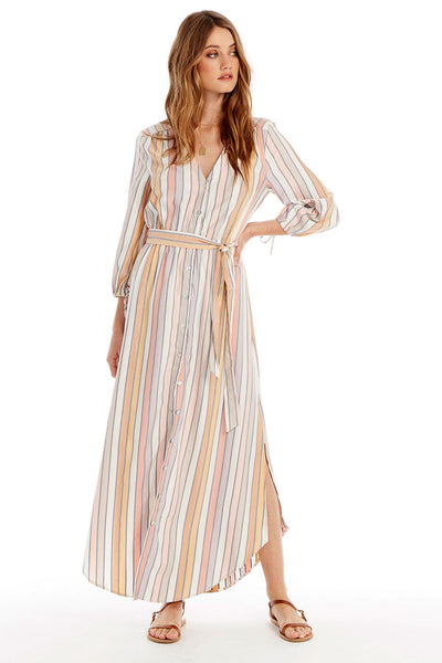 Goldie Midi Dress - Morning Stripe