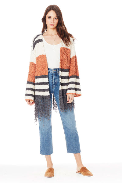 McKenna Sweater in Clay Stripe