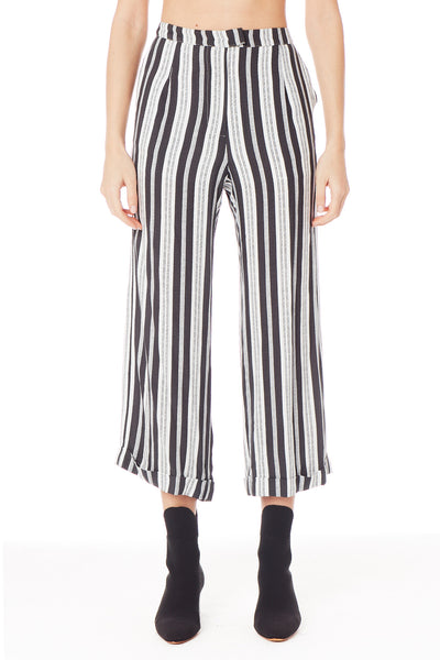Starry Crop Pant - Nubby Stripe